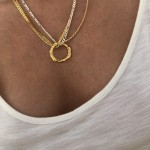 FULL MOON CORD CHAIN NECKLACE