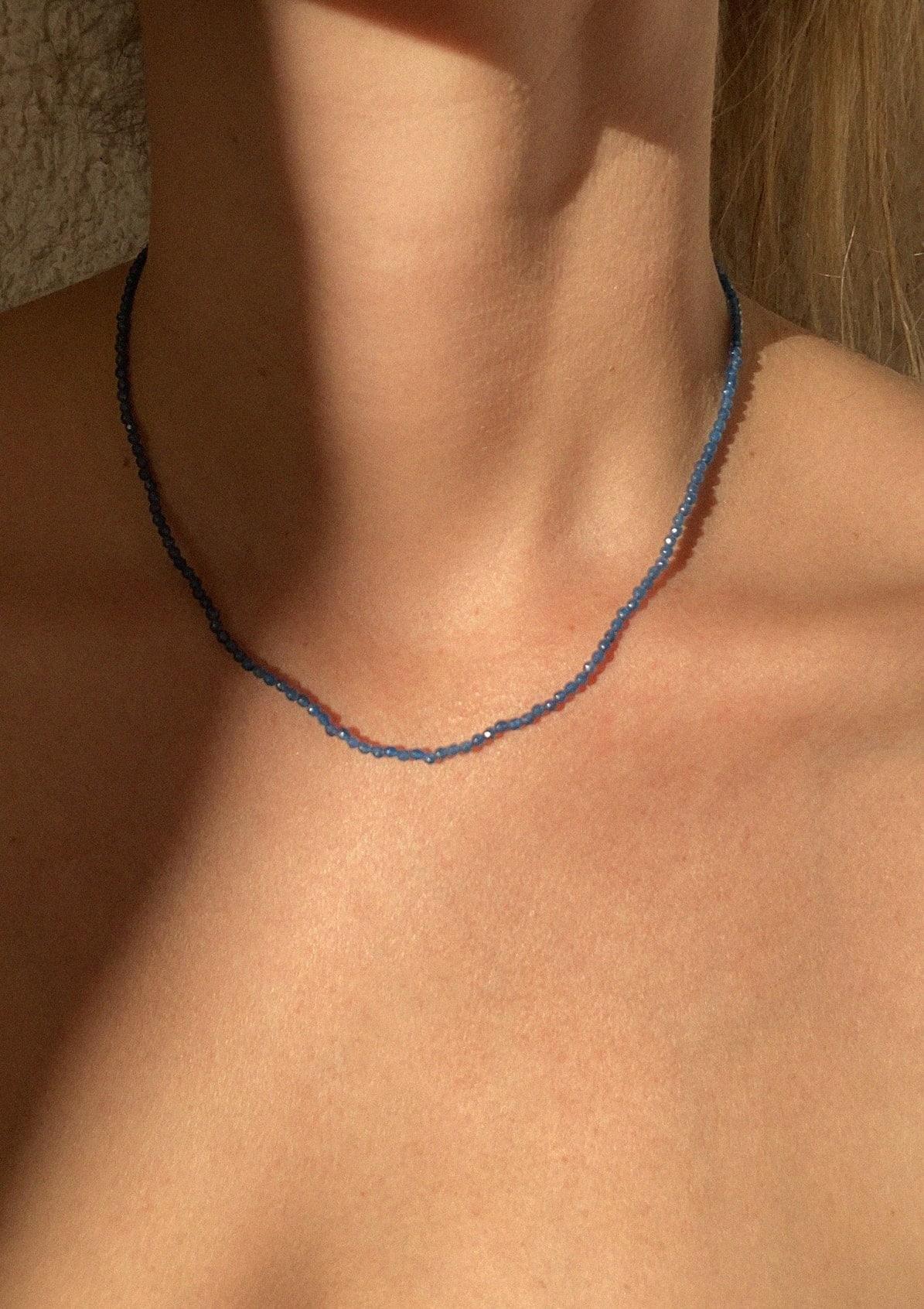 NAVY BLUE NECKLACE