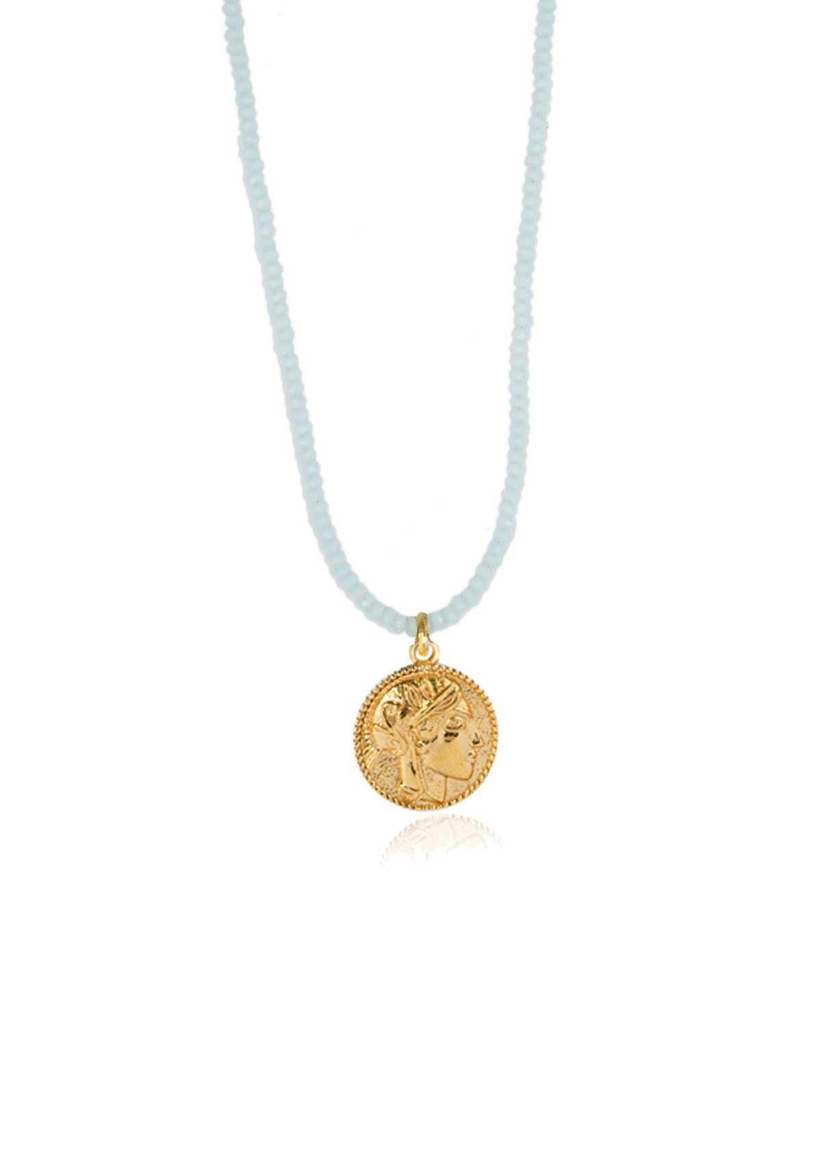 Athena Aqua Crystal Necklace