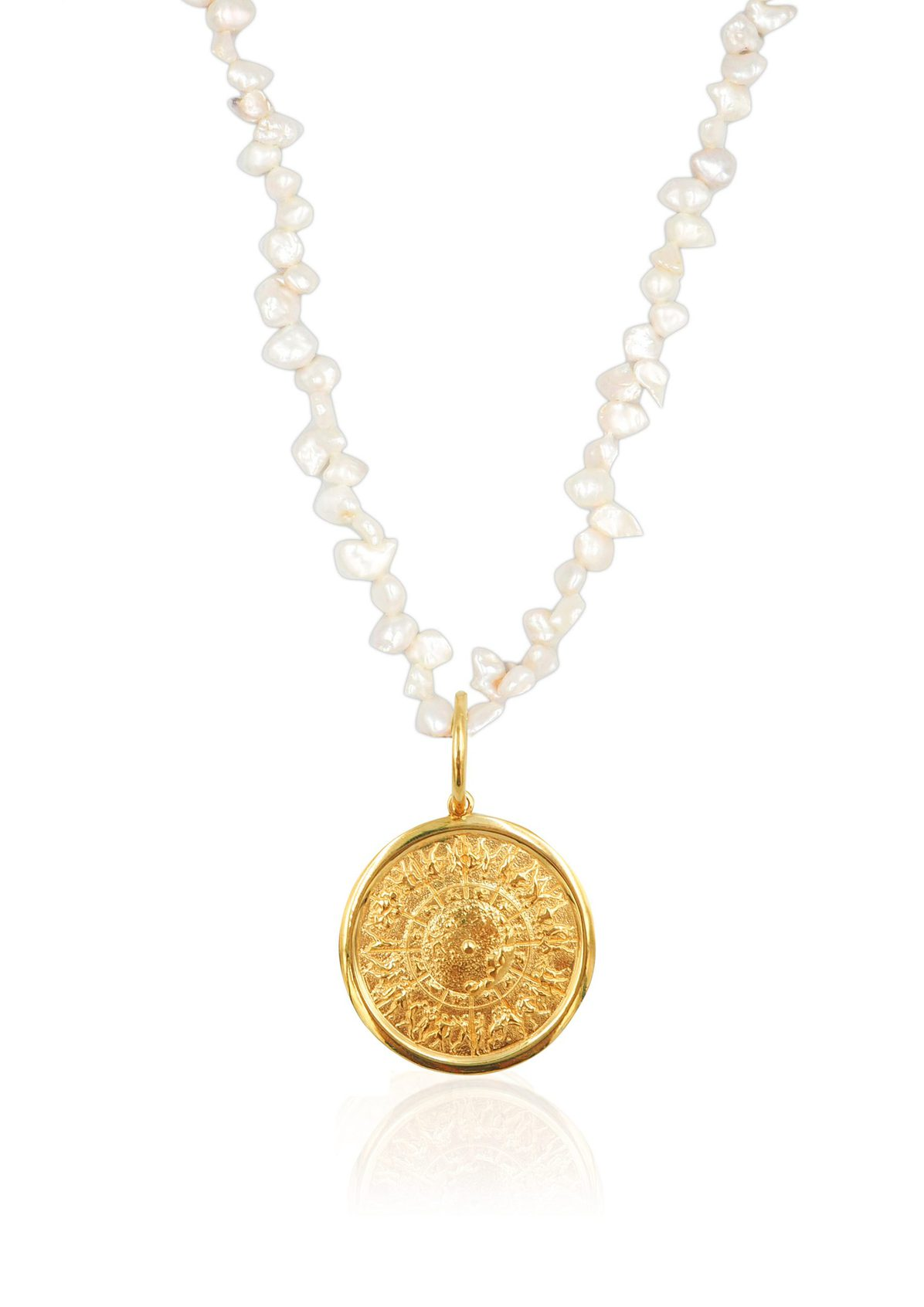 SHIELD OF ACHILLES PEARL NECKLACE