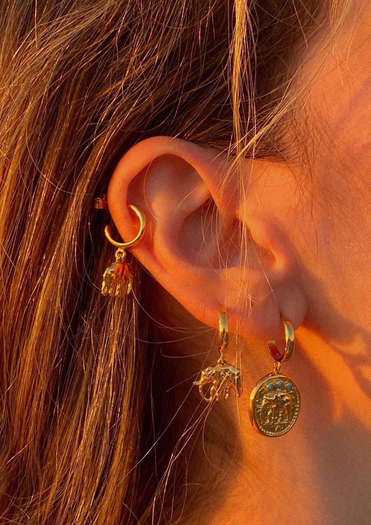 Hermina Athens Elephant Mini Earrings