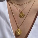 LunaLuna medium diamond cut necklace