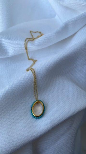 luna turquoise pendant