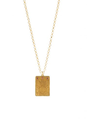 HOLLY HEART THIN CHAIN NECKLACE
